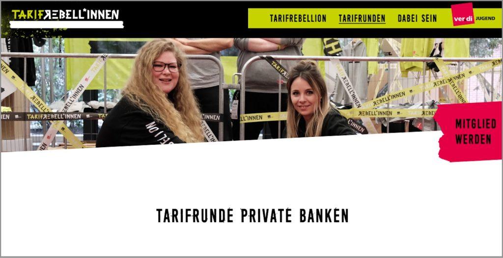 Tarifrebellion Kampagnenseite